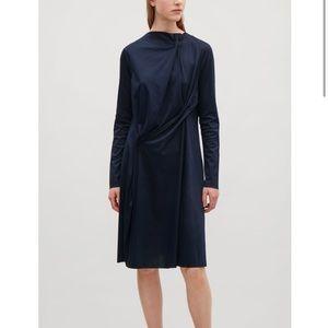 Cos navy blue jersey dress